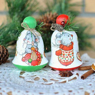 Подарки к праздникам handmade. Livemaster - original item Musical bell with the symbol of the year 2020. Handmade.