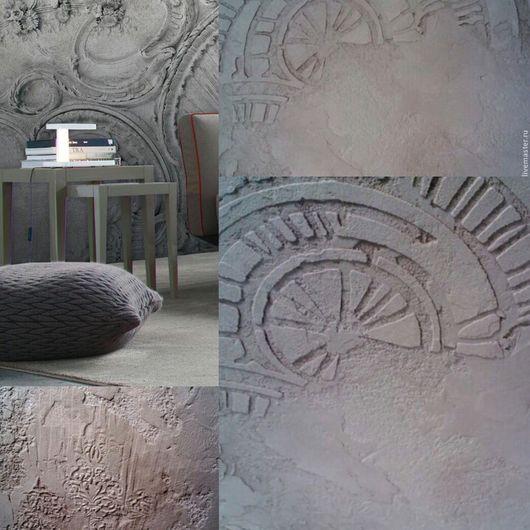 Декор поверхностей ручной работы. Ярмарка Мастеров - ручная работа. Купить декорирование бетонной стены в стиле Лофт. Handmade. Серый