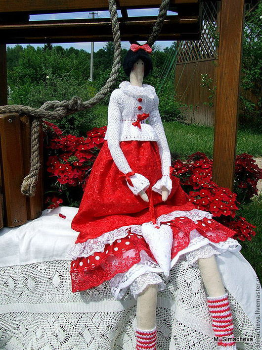 Куклы Тильды ручной работы. Ярмарка Мастеров - ручная работа. Купить Кукла в стиле Тильда Кармелита в ожидании чуда. Handmade.