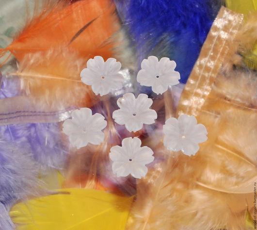Для украшений ручной работы. Ярмарка Мастеров - ручная работа. Купить Кварц белый Цветок №141. Handmade. Белый