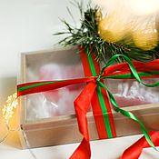 Косметика ручной работы handmade. Livemaster - original item Set of Christmas gift soap handmade chocolate green. Handmade.