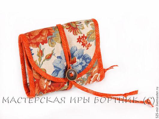Органайзеры для сумок ручной работы. Ярмарка Мастеров - ручная работа. Купить Дамский кошелёк, косметичка, аптечка Оранжевые розы. Handmade.