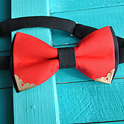 handmade. Livemaster - original item Red tie Elite / bow tie red with black. Handmade.