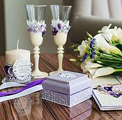 Свадебный салон ручной работы. Ярмарка Мастеров - ручная работа Свадебный набор ``Фиолетовая симфония``. Handmade.