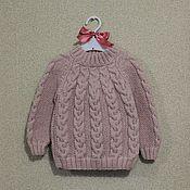 Работы для детей, ручной работы. Ярмарка Мастеров - ручная работа Вязаный свитер с косами. Handmade.