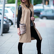 Одежда handmade. Livemaster - original item Cashmere coat, ladies coat, Coat pocket, Vest EUG. Handmade.