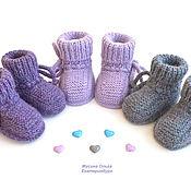 Одежда детская handmade. Livemaster - original item Alpaca booties for newborns. Handmade.