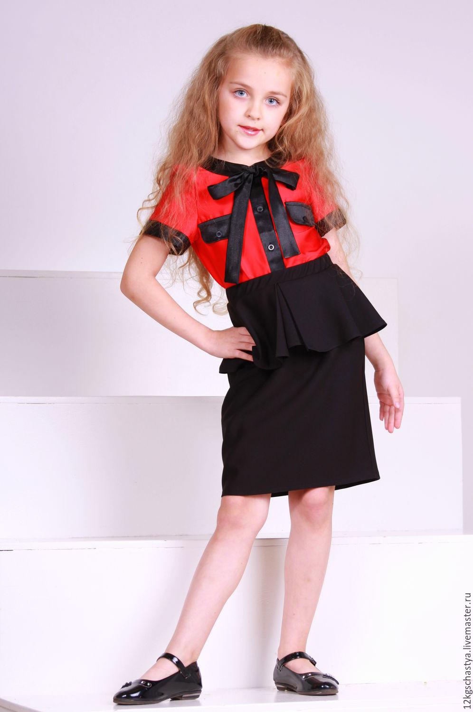 Красная блузка для девочек купить