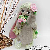 Куклы и игрушки ручной работы. Ярмарка Мастеров - ручная работа Зайчонок девочка. Handmade.