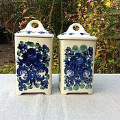 Винтаж handmade. Livemaster - original item Porcelain jar, hand painted, Poland. Handmade.
