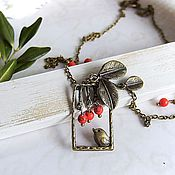 Украшения handmade. Livemaster - original item Vintage Pendant necklace bird on a Branch Vintage. Handmade.