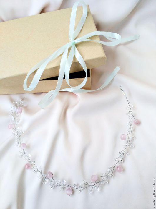 Свадебные украшения ручной работы. Ярмарка Мастеров - ручная работа. Купить На заказ! Свадебное украшение для волос. Handmade. бусины