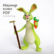 Материалы для творчества handmade. Livemaster - original item Rabbit amigurumi pattern. Crochet Easter bunny.. Handmade.
