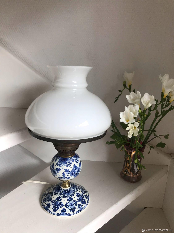 Lamp, handmade, Delft, Holland, Vintage interior, Arnhem,  Фото №1