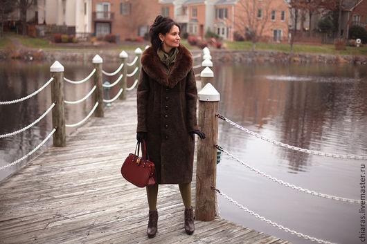 Верхняя одежда ручной работы. Ярмарка Мастеров - ручная работа. Купить авторское зимнее пальто из шерсти свободного кроя. Handmade.