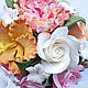 Букеты ручной работы. Свадебный букет с розами, гибискусом и пионом.. Flor-ina handmade (Ирина). Интернет-магазин Ярмарка Мастеров.