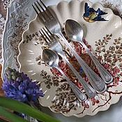 Винтаж handmade. Livemaster - original item Cutlery set with EN monogram. Handmade.