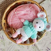Куклы и игрушки handmade. Livemaster - original item Knitted toy Mouse. Mouse toy. Handmade.