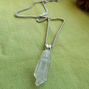 Фен-шуй и эзотерика handmade. Livemaster - original item Pendant with Elestial quartz with phantom. Handmade.