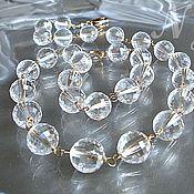 Украшения handmade. Livemaster - original item Rock Crystal rosary gold filled necklace. Handmade.
