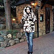 Одежда handmade. Livemaster - original item Coat . Fur jacket sheared beaver bomber jacket patchwork. Handmade.