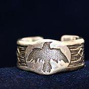 Кольца ручной работы. Ярмарка Мастеров - ручная работа Кольцо с вороном тотем ворон. Handmade.