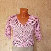 Одежда ручной работы. Ярмарка Мастеров - ручная работа болеро Розовое. Handmade.