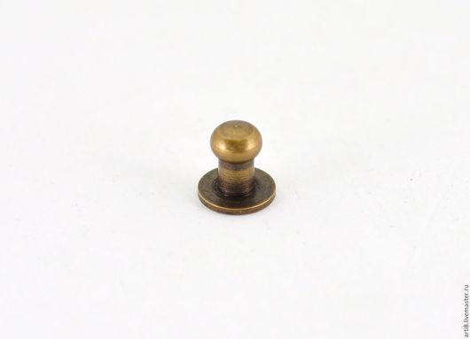 Другие виды рукоделия ручной работы. Ярмарка Мастеров - ручная работа. Купить Кобурная кнопка D6 старая латунь. Handmade.