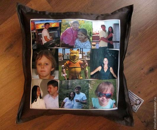 Текстиль, ковры ручной работы. Ярмарка Мастеров - ручная работа. Купить подушка с фото. Handmade. Лоскутное шитье, подушка с фото