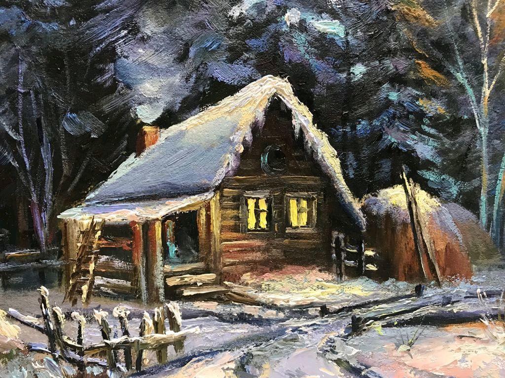 Анимационная картинка домик лесника в зимний период краснеют