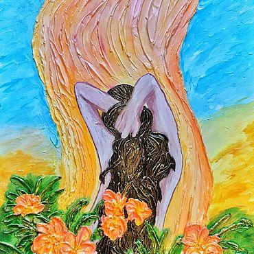 """Картины и панно ручной работы. Ярмарка Мастеров - ручная работа Интуитивная живопись """"В потоке"""" Импрессионизм, акрил. Handmade."""