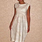 """Одежда ручной работы. Ярмарка Мастеров - ручная работа Валяное платье """"Кремовый пион"""". Handmade."""