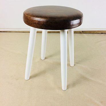 Мебель ручной работы. Ярмарка Мастеров - ручная работа Табурет модель LUNA SOFT искусс кожа. Handmade.