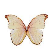 """Украшения ручной работы. Ярмарка Мастеров - ручная работа Брошь-бабочка """"Искристый перламутр"""". Handmade."""
