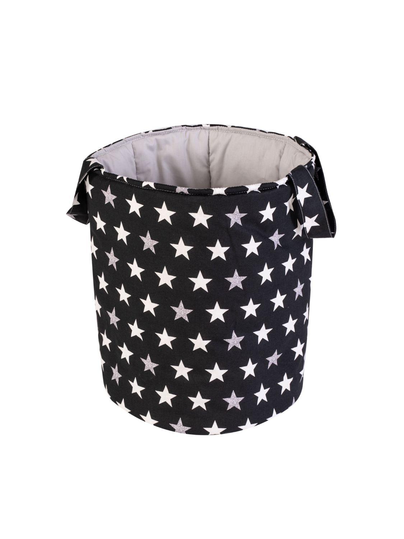 Текстильная корзина для игрушек «Звезды»/чёрный, Корзины, Ульяновск,  Фото №1