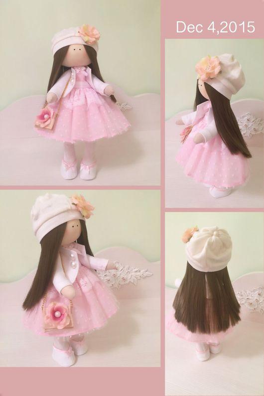Куклы тыквоголовки ручной работы. Ярмарка Мастеров - ручная работа. Купить Куколка в розовом платьице Нет в наличии. Handmade.