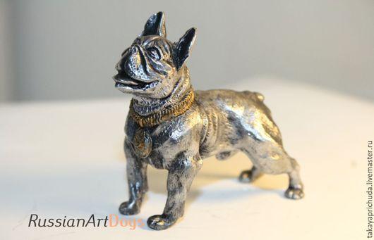 Статуэтки ручной работы. Ярмарка Мастеров - ручная работа. Купить Французский бульдог   - статуэтка (оловянная фигурка собаки). Handmade.