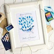 Свадебный салон ручной работы. Ярмарка Мастеров - ручная работа Воздушные шары пожеланий с отпечатками пальцев для морской свадьбы. Handmade.
