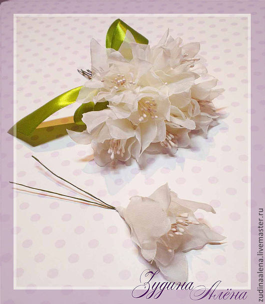 Свадебные украшения ручной работы. Ярмарка Мастеров - ручная работа. Купить Шпильки с шелковыми цветами для свадебной прически. Handmade. Бежевый