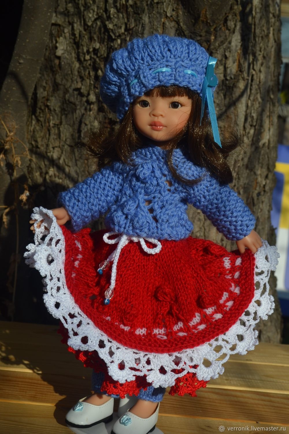 Sweater, skirt, cap and leg warmers for Paola Reina doll, Clothes for dolls, Samara,  Фото №1
