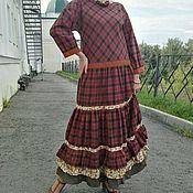 """Одежда ручной работы. Ярмарка Мастеров - ручная работа Платье """"Августа"""" из шерстяной ткани. Handmade."""