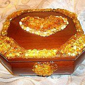 Для дома и интерьера handmade. Livemaster - original item The box with the amber Heart in love,. Handmade.