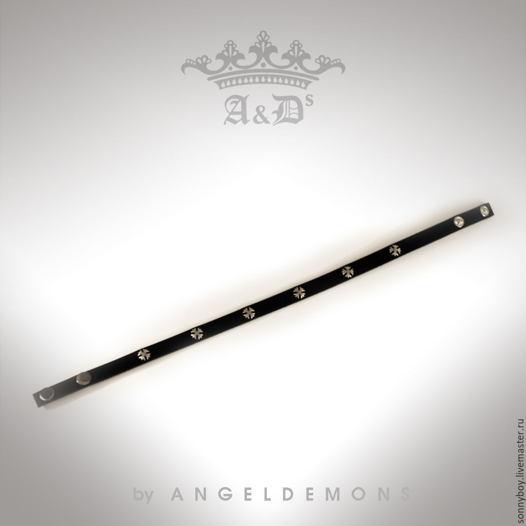 Браслет намотка из кожи - Bracelet Black Ravel Lily