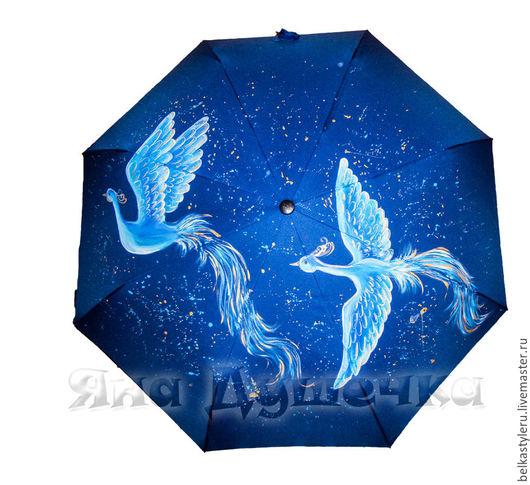 """Зонты ручной работы. Ярмарка Мастеров - ручная работа. Купить Зонт с ручной росписью """"Две жар-птицы"""". Handmade. Зонт"""