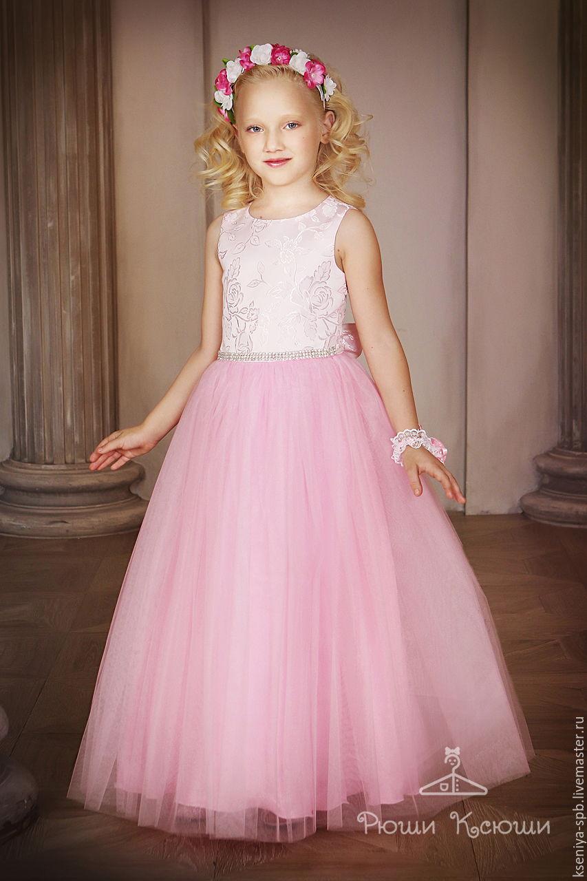 Платье пышное для девочки до пола