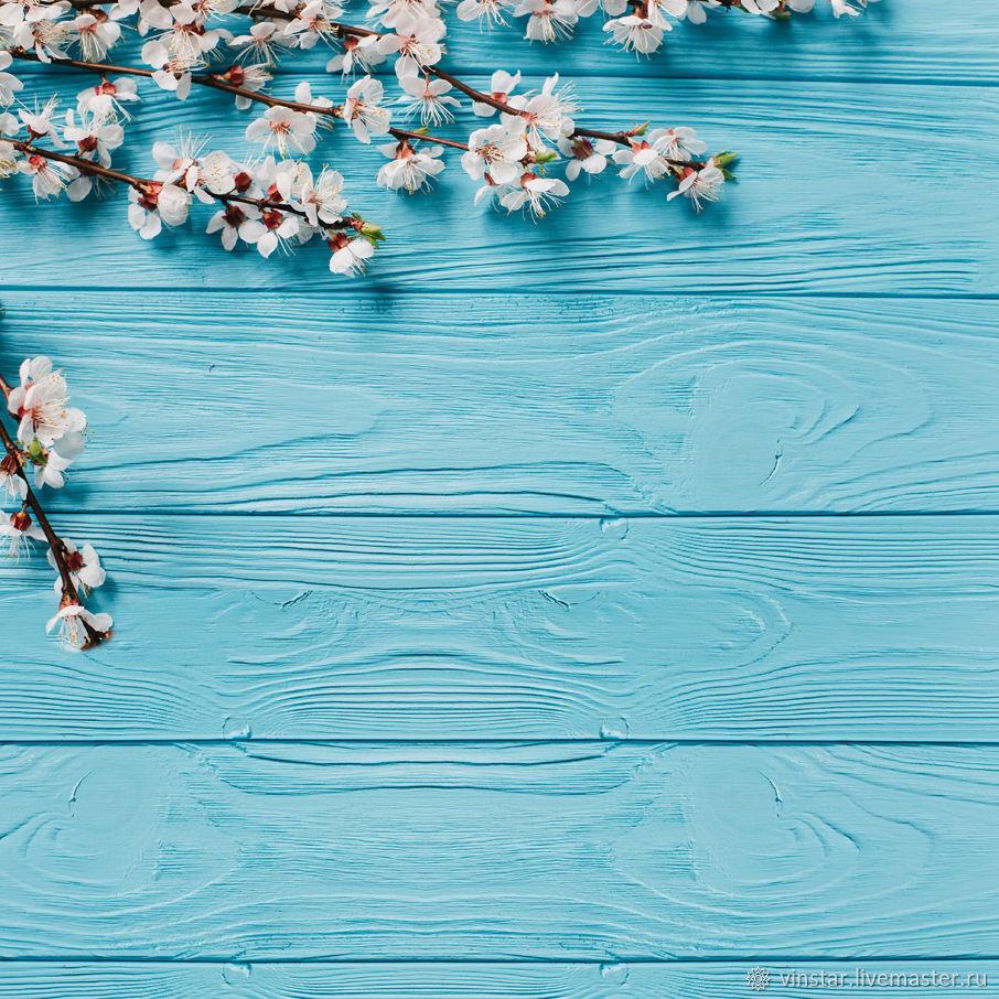 Фотофон виниловый Вишня на бирюзовом, Фото, Курск,  Фото №1