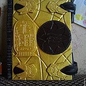 Сувениры и подарки ручной работы. Ярмарка Мастеров - ручная работа блокнот для записей Золотая книга Амон Ра. Handmade.