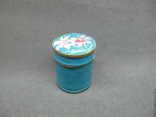 Винтажные предметы интерьера. Ярмарка Мастеров - ручная работа. Купить Очаровательная шкатулка эмаль. Handmade. Китай, подарок, эмаль