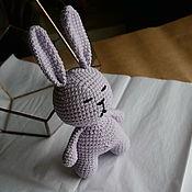 Куклы и игрушки handmade. Livemaster - original item Bunny in a soft purple coat. Handmade.