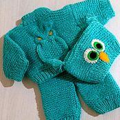 Одежда для кукол ручной работы. Ярмарка Мастеров - ручная работа Вязаный костюмчик для baby born. Handmade.